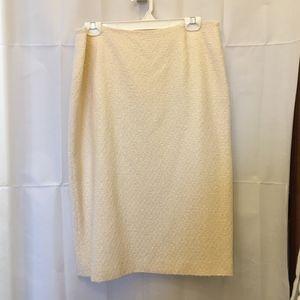 Escada Cream Skirt Size 14